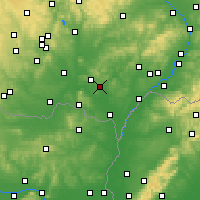 Nearby Forecast Locations - Velké Pavlovice - карта