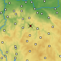 Nearby Forecast Locations - Zruč nad Sázavou - карта