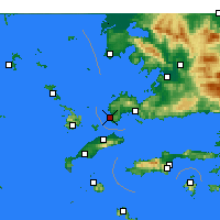 Nearby Forecast Locations - Turgutreis - карта