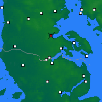 Nearby Forecast Locations - Aabenraa - карта