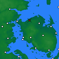 Nearby Forecast Locations - Bogense - карта