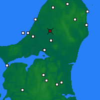 Nearby Forecast Locations - Brønderslev - карта