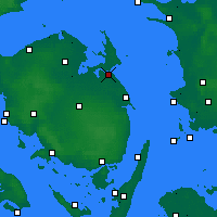 Nearby Forecast Locations - Kerteminde - карта