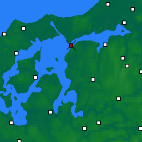 Nearby Forecast Locations - Løgstør - карта