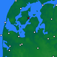 Nearby Forecast Locations - Nykøbing Mors - карта