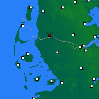 Nearby Forecast Locations - Tønder - карта