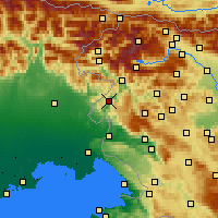Nearby Forecast Locations - Kanal ob Soči - карта