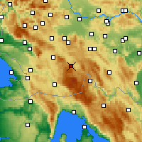 Nearby Forecast Locations - Лошка-Долина - карта