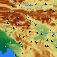 Nearby Forecast Locations - Železniki - карта