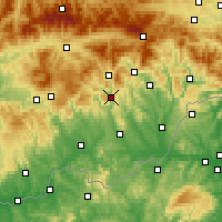 Nearby Forecast Locations - Гнуштя - карта