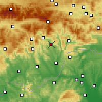 Nearby Forecast Locations - Елшава - карта