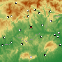 Nearby Forecast Locations - Римавска-Собота - карта