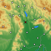 Nearby Forecast Locations - Вранов-над-Топлёу - карта