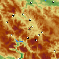Nearby Forecast Locations - Kiseljak - карта