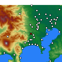 Nearby Forecast Locations - Сагамихара - карта