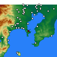 Nearby Forecast Locations - Йокосука - карта