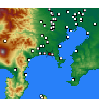 Nearby Forecast Locations - Фудзисава - карта