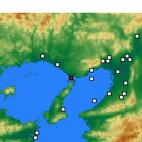 Nearby Forecast Locations - Акаси - карта