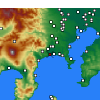 Nearby Forecast Locations - Хирацука - карта
