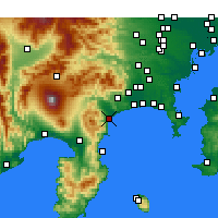 Nearby Forecast Locations - Одавара - карта