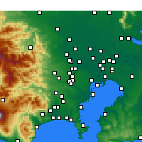 Nearby Forecast Locations - Ниситокё - карта