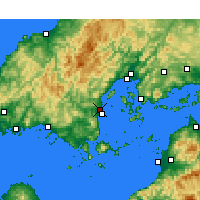 Nearby Forecast Locations - Ивакуни - карта