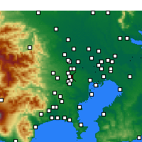 Nearby Forecast Locations - Мусасино - карта