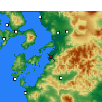 Nearby Forecast Locations - Яцусиро - карта
