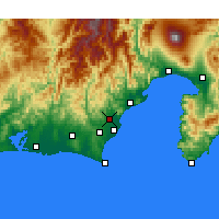 Nearby Forecast Locations - Фудзиэда - карта