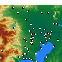Nearby Forecast Locations - Фудзимино - карта