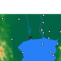 Nearby Forecast Locations - Samut Sakhon - карта