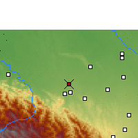 Nearby Forecast Locations - San Juan de Yapacaní - карта