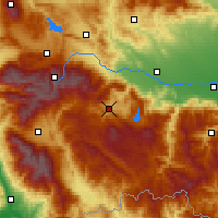 Nearby Forecast Locations - Велинград - карта