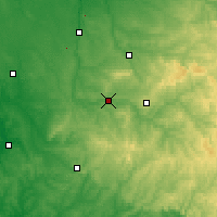 Nearby Forecast Locations - Saint-Junien - карта