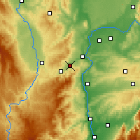 Nearby Forecast Locations - Rive-de-Gier - карта