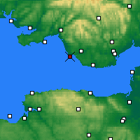 Nearby Forecast Locations - Porthcawl - карта