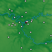 Nearby Forecast Locations - Villiers-sur-Marne - карта