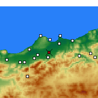 Nearby Forecast Locations - Sidi Moussa - карта