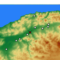 Nearby Forecast Locations - Oued Sly - карта