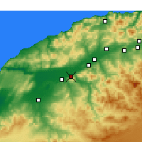 Nearby Forecast Locations - Oued Rhiou - карта
