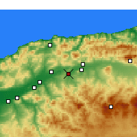 Nearby Forecast Locations - Oued Fodda - карта