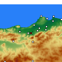 Nearby Forecast Locations - Mouzaïa - карта