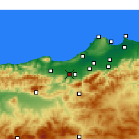 Nearby Forecast Locations - El Affroun - карта