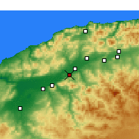 Nearby Forecast Locations - Boukadir - карта