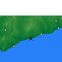 Nearby Forecast Locations - Elmina - карта