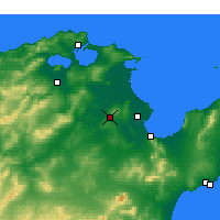 Nearby Forecast Locations - Oued Ellil - карта