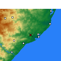 Nearby Forecast Locations - Empangeni - карта