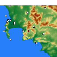 Nearby Forecast Locations - Grabouw - карта
