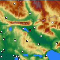 Nearby Forecast Locations - Irakleia - карта