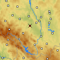 Nearby Forecast Locations - Vodňany - карта
